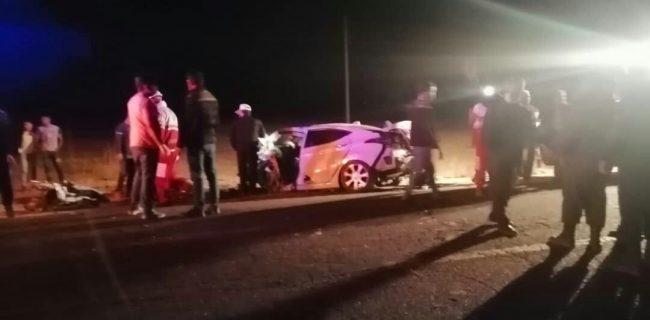 تصادف شبانه ۳ خودرو در تکاب، جان پنج نفر را گرفت