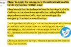 واکسن سازی فایزر از درخواست مجوز واکسن ضد کرونا در آمریکا ظرف چند روز آینده خبر داد