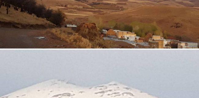 بارش اولین برف پاییزی۹۹ کوه بلقیس تکاب(دوهاچه)