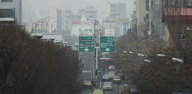 آلودگی هوای تبریز همچنان ادامه دارد
