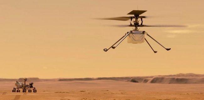 🔸شمارش معکوس برای پرواز نخستین هلیکوپتر ناسا در مریخ